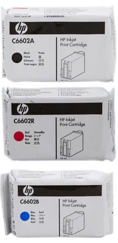 3 Pack HP 6000 C6602A-C6602R-C6602B Genuine Ink Cartridges  [1C,1M,1Y]