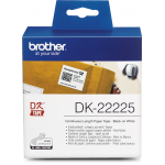 Brother DK-22225 Genuine Black on White Label Continuous Paper Roll (38mm, 30.48m)