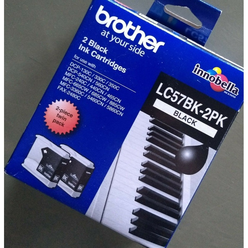 Brother LC57HYBK Black Genuine Ink Cartridge 900 Print Yield