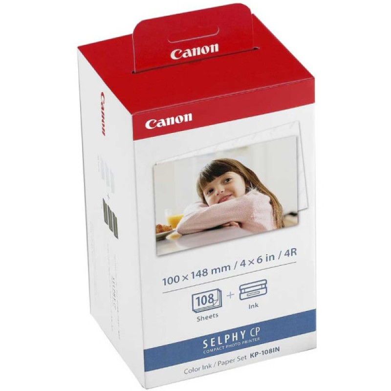 2-Pack Canon KP108IN Ink + Paper Packet (Genuine)