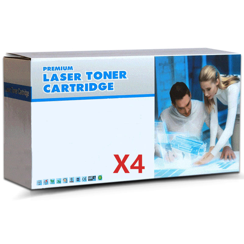 4-Pack Compatible Fuji Xerox CT202246 CT202247 CT202248 CT202249 CMYK Toner Cartridges
