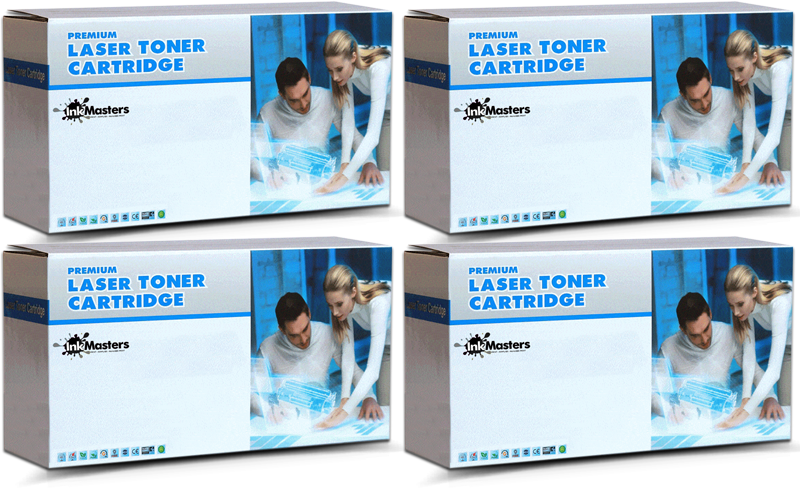 4 Pack Canon CART335CL CART335ML CART335YL CART335BKL Compatible Toner Cartridges [1BK,1C,1M,1Y]