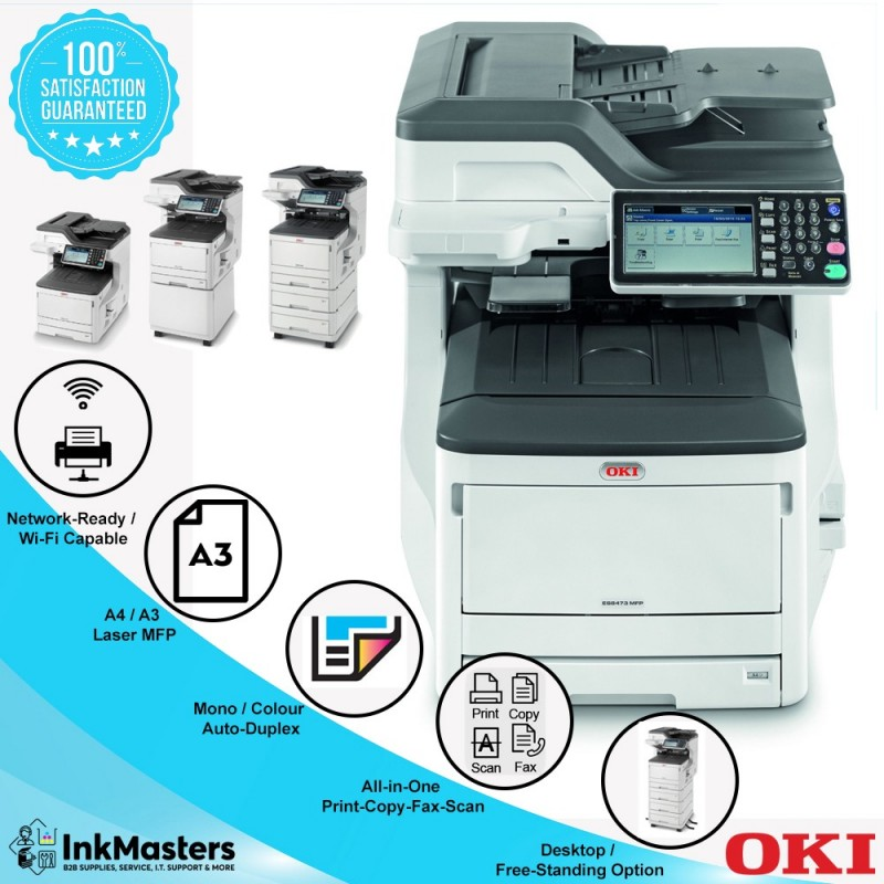 OKI A3 Colour MFC ES8473 Network & Print from Mobile