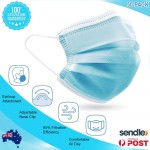 3PLY Everyday Face Masks with Ear Loop 50 Pack Non medical