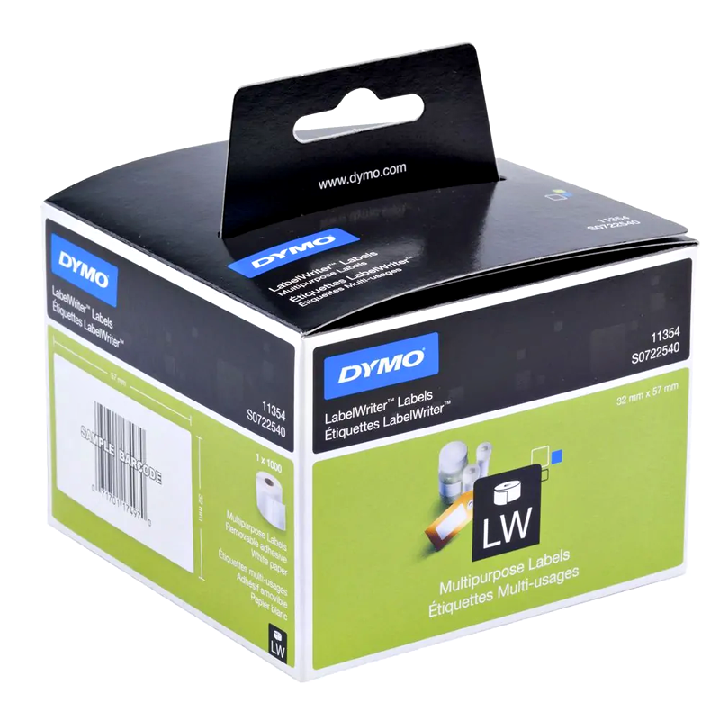 Dymo SD11354 Genuine Multi Purpose Label Roll 57mm x 32mm (1,000 labels/roll)