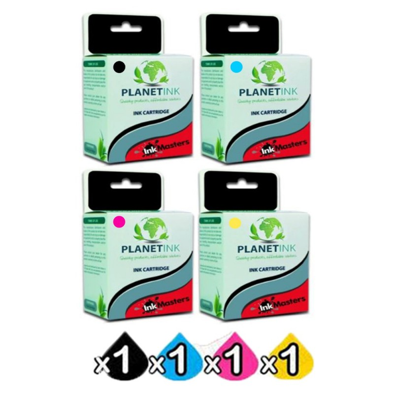 4 Pack Brother LC3319XL Compatible Inkjet Combo [1C, 1Y, 1M, 1BK]