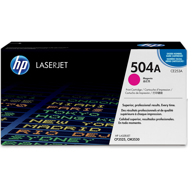 HP 504A CE253A Magenta Genuine Toner Cartridge 7,000 Prints