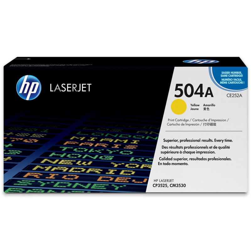 HP 504A CE252A Yellow Genuine Toner Cartridge 7,000 Prints