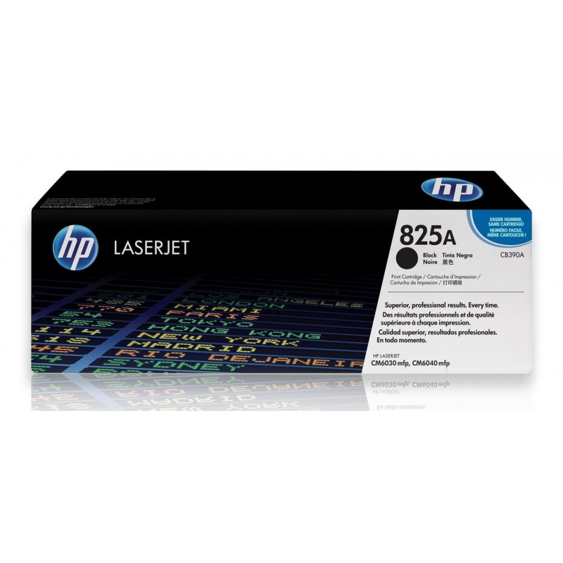 HP 825A CB390A Black Genuine  Toner Cartridge 19,500 Prints