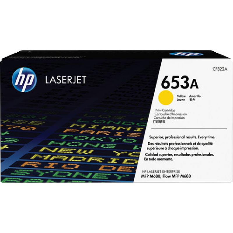 HP 653A CF322A Yellow Genuine Toner Cartridge 16,500 Prints