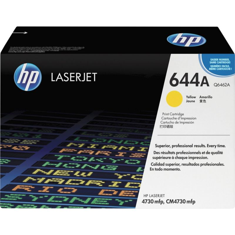 HP 644A Q6462A Yellow Genuine Toner Cartridge 12,000 Prints