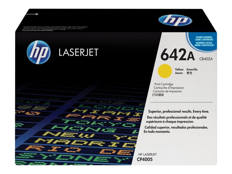 HP 642A CB402A Yellow Genuine Toner Cartridge7,500 Prints