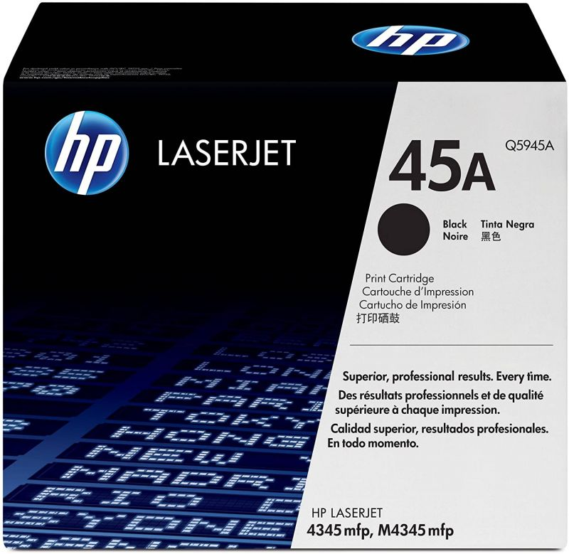 HP 45A Q5945A Black Genuine Toner Cartridge 18,000 Prints