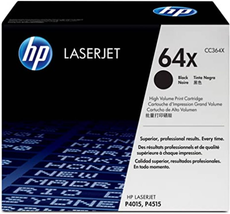 HP 64X  CC364X Black Genuine Toner Cartridge 24,000 Prints
