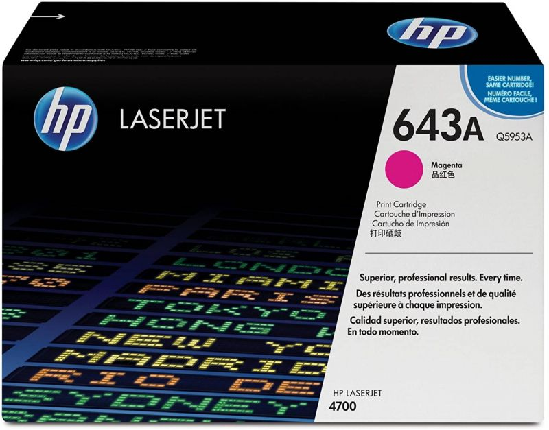HP 643A Q5953A Magenta Genuine Toner Cartridge 10,000 Prints