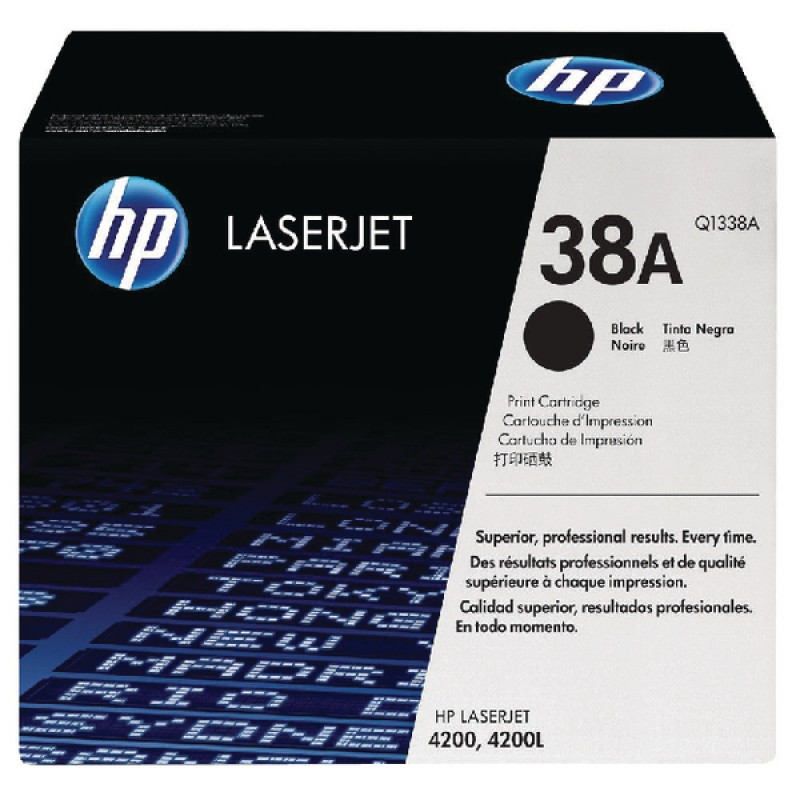 HP 38A Q1338A Black  Genuine Toner Cartridge 12,000 Prints