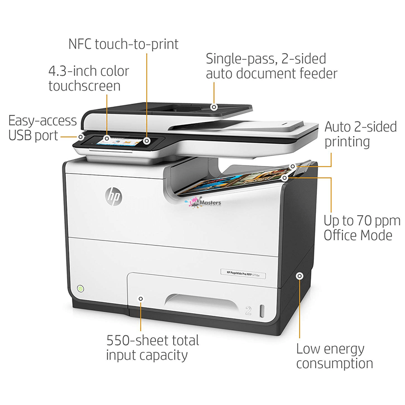 70ppm HP PageWide Pro 577dw MFP Color Multifunction Business Printer with  Wireless & Duplex Printing (D3Q21A) - HP577DW