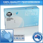 Ultra Feel Nitrile Exam Gloves Eco Blue TGA Approved Latex Free & Powder Free