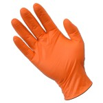 100pcs Orange Nitrile Exam Gloves Latex/Powder Free - Large (L)