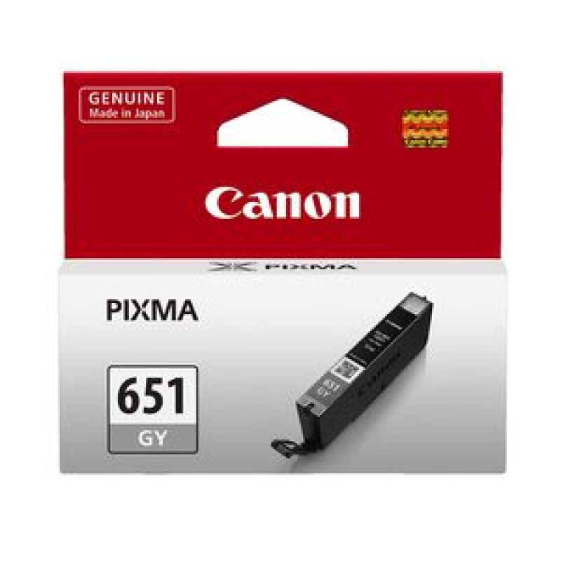 Genuine Canon CLI-651GY Grey Ink Cartridge 348 Pages