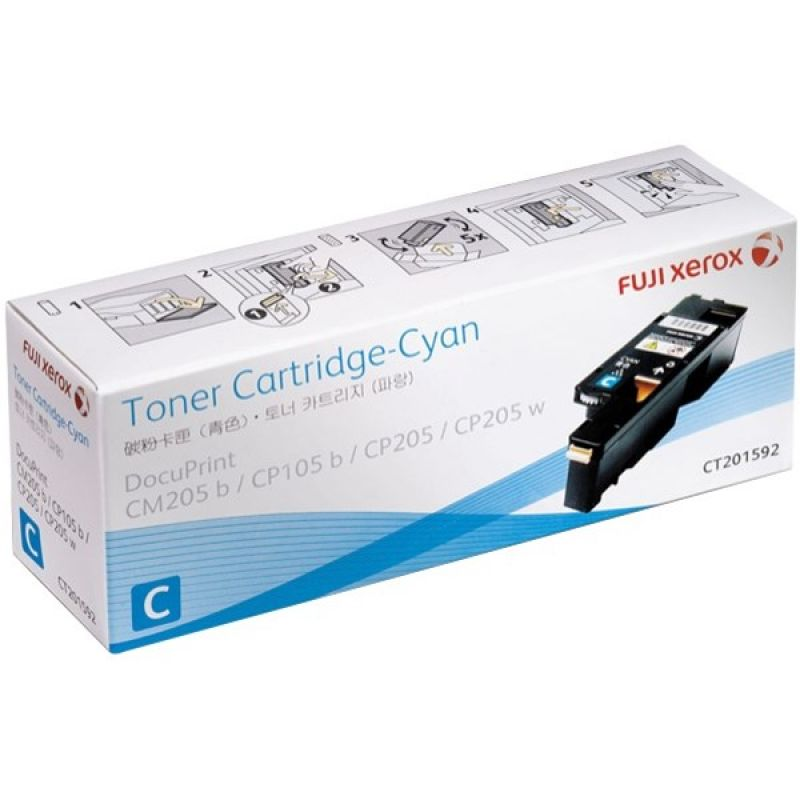 Fuji Xerox CT200207 Genuine Cyan Toner Cartridge 15K Print Yield