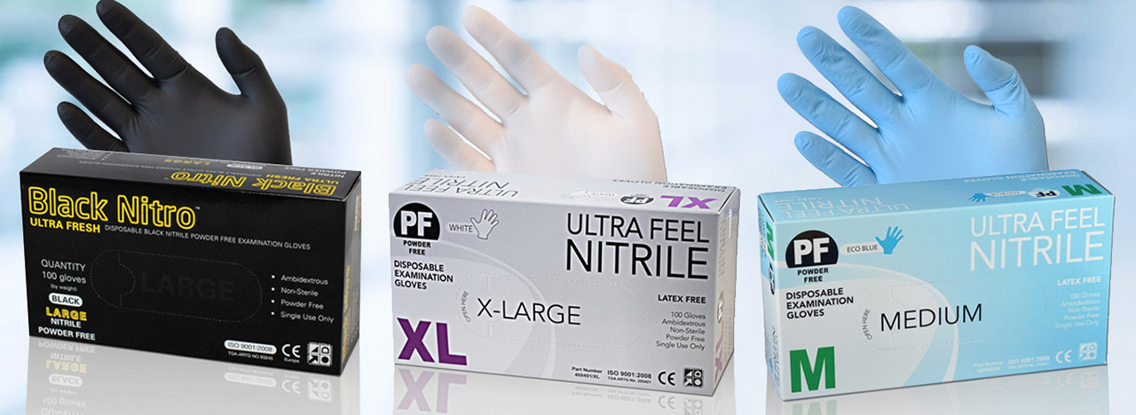 Nitrile Exam Gloves Medical & Industrial
